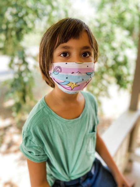 donated-covid-19-face-mask-child-dr-nadine-macaluso-therapist